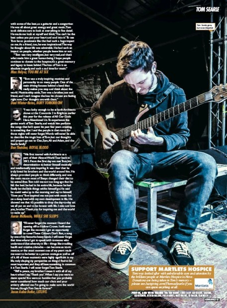 tom searle kerrang 2